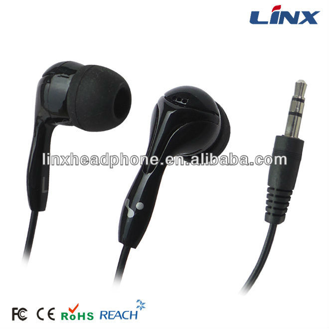 mix-style black earphone headphone for computer mp3