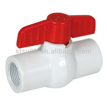 Professional Supply plastic injection PPR double union ball valve(socket & thread)