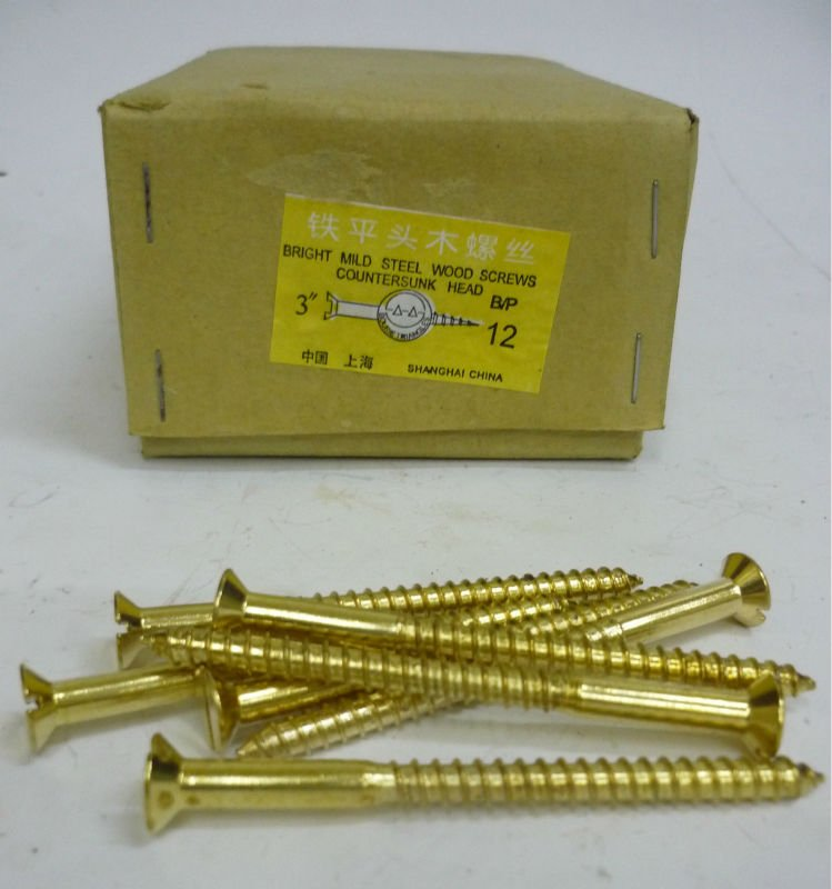 Brass Plated Wood Screws
