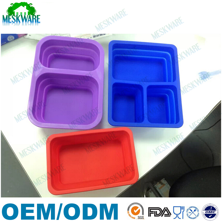 Promotional gift collapsible silicone lunch box