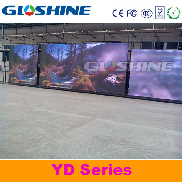 Gloshine color led display screen/stage background led display big screen