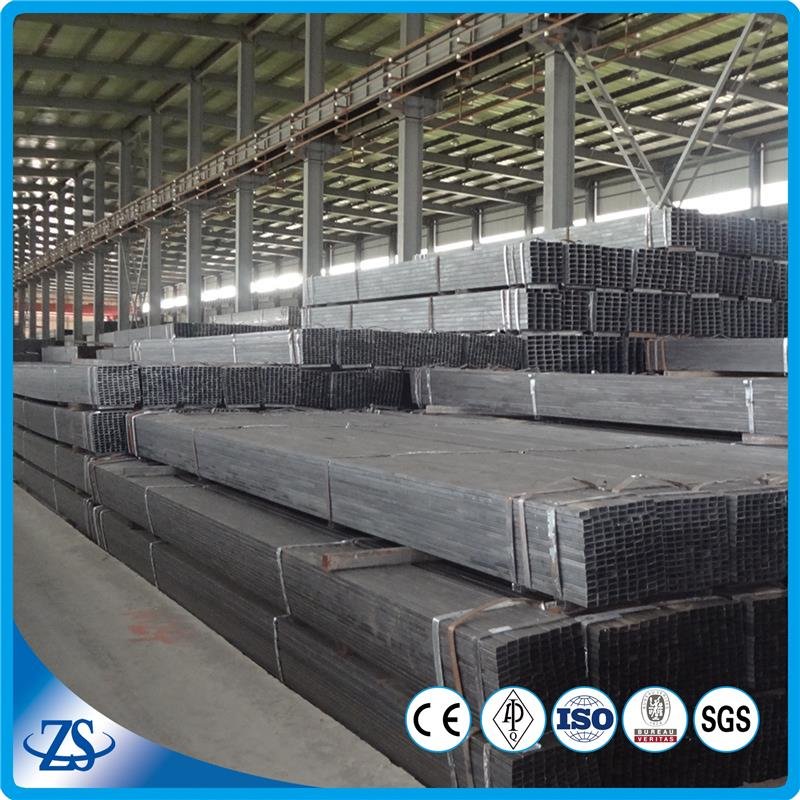 welded erw square steel tube gals with decorative metal tube