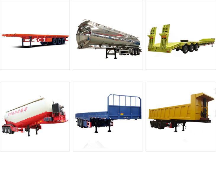 3 Axle heavy duty tri-axle low bed semi trailer for sales