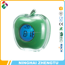 Best selling new products made in china apple shape plastic digital talking clock for blind