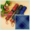 PU coated polyester plaid taffeta fabric for umbrella