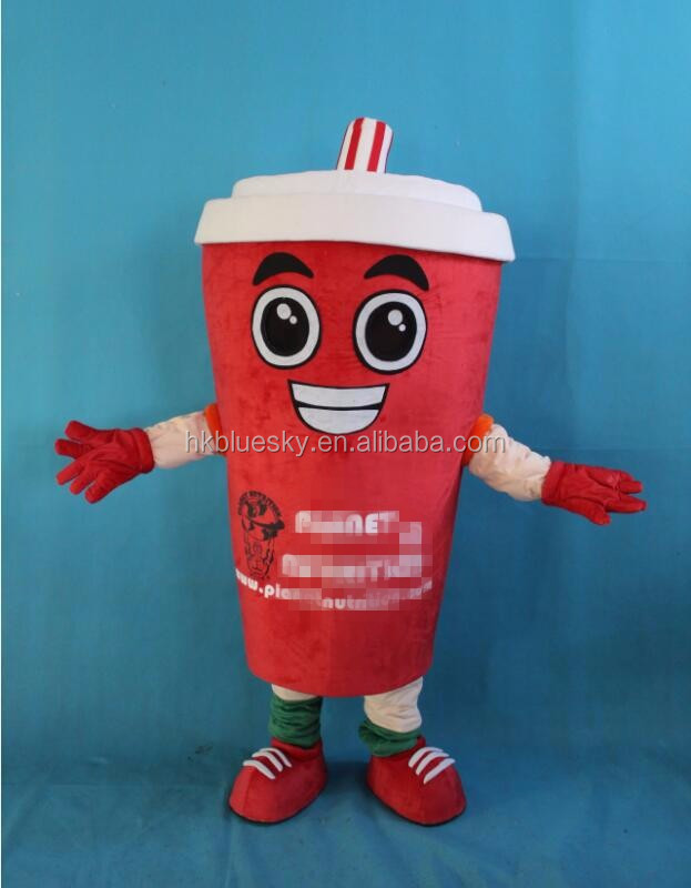 2016 free logo Smoothie cup mascot costume