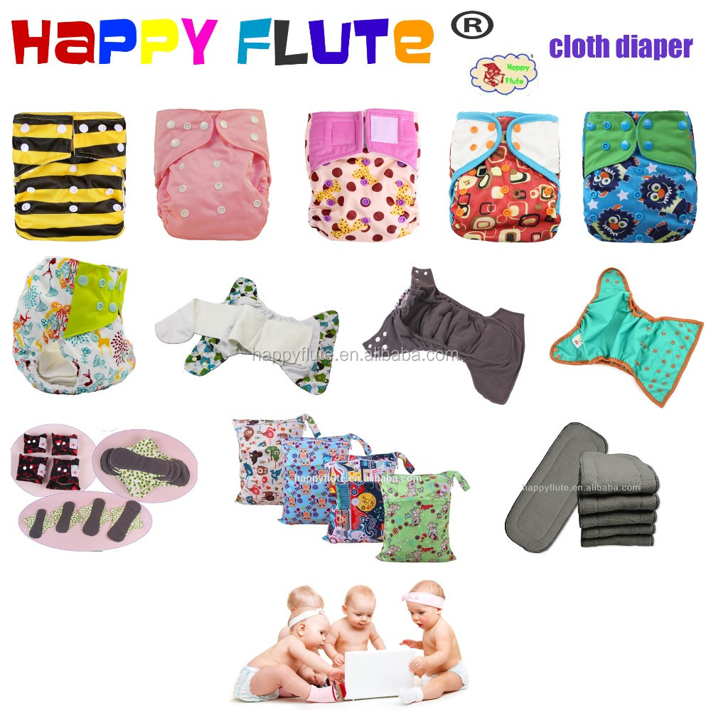 Happy flute reusable pocket cloth baby diaper coffee fiber diaper manufacturer