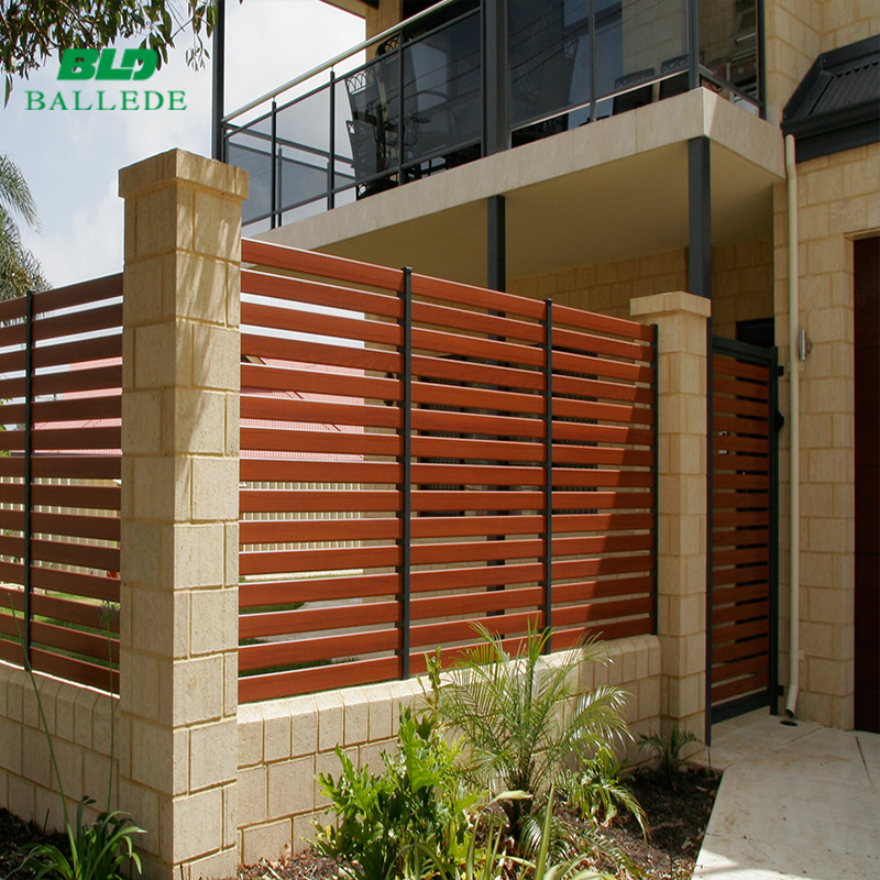 decorative metal aluminum yard safety barrier fence