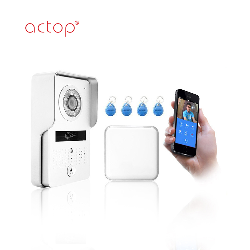 ACTOP wifi video doorbell camera support IC card unlock intercom system for villa or apartment