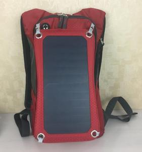 Solar Backpack Easy For Charge Hydration Pack Backpack 1.8L Water Bladder Hiking Camping