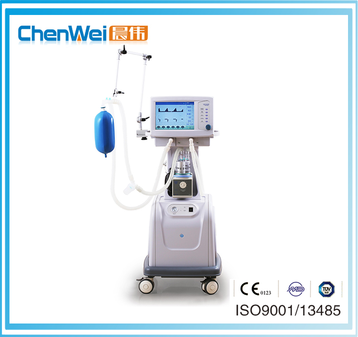 CHENWEI Brand CE Marked LCD Display Electronically Portable Respiratory Breathing Apparatus Medical Ventilators (CWH-3010)