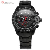 SHARK Japan Quartz Chronograph Men Stainless Steel Band Wrist Watches