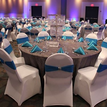 Wholesale cheap Strong stretch Standard Size white spandex hotel party banquet wedding chair cover