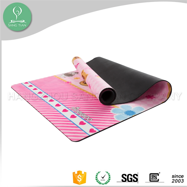 Toxic free odor free 100% eco wholesale yoga mats kids round baby play mat
