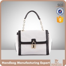 4048 2016 Hot Sale Fashion Laser Chain Handle Tote Bag High Quality Lady Perforated Handbag from Guangzhou