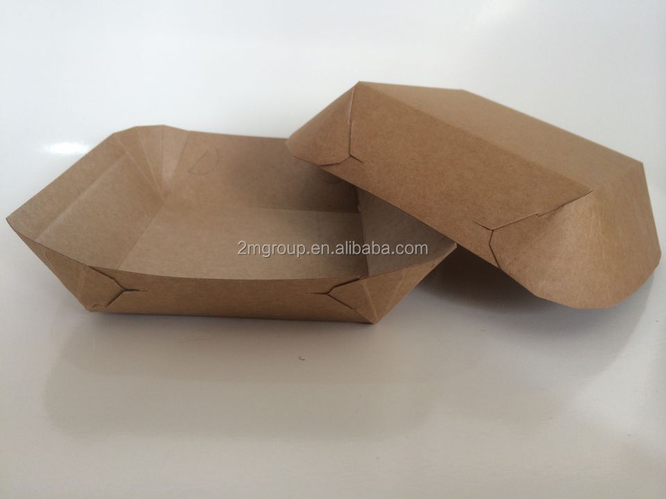 customized kraft food paper tray