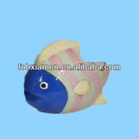 Aquatic tropical fish bathroom ceramic toilet brush holder