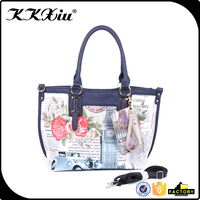 Personalized designer floral handbag with removable pocket