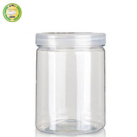 wide mouth seal damp proof plastic jar for food Hot sell reusable airtight pet 4 oz honey jar