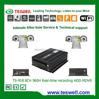 8CH FULL 960H 2TB HDD vehicle mobile DVR 8ch HDD MDVR with 3G/WIFI/GPS/G-sensor intercom system