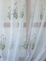 kitchen design voile Embroidered Fabric Curtain for window door