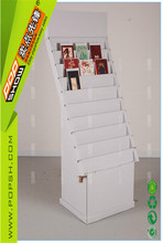 2015 new white corrugated carboard pop display stand /racks for greeting cards