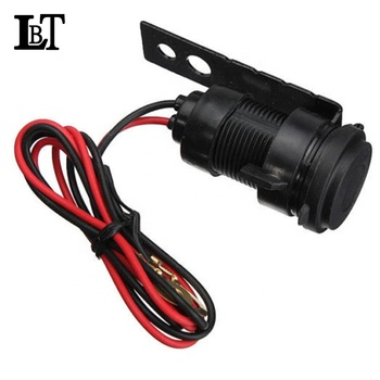 LBT 2019 Hot Sell Customize 0.6M Black12V USB2.0 Waterproof Motorbike Port Charger cable for Motorcycle Mobile phone