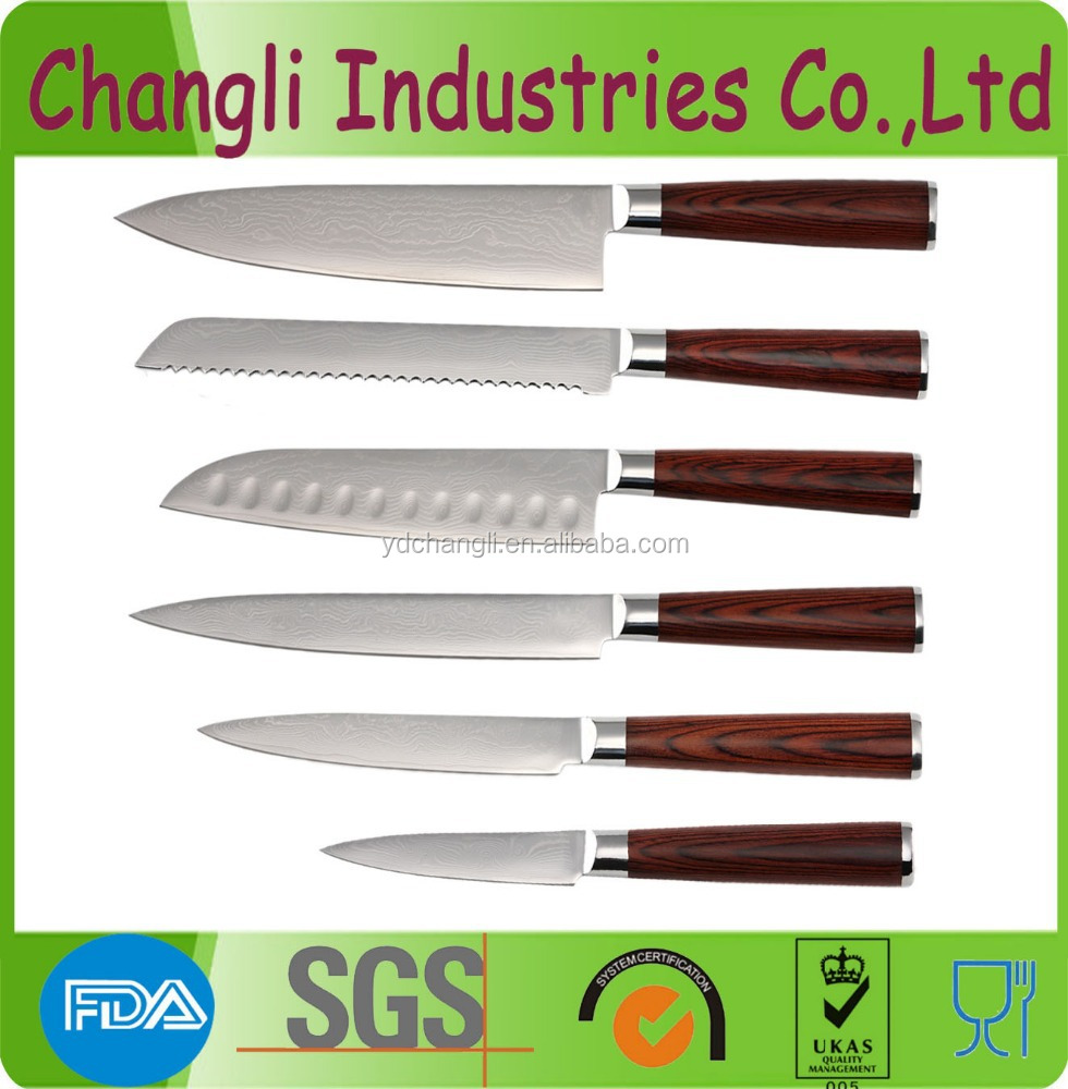 High quality damascus VG10 kitchen knife set
