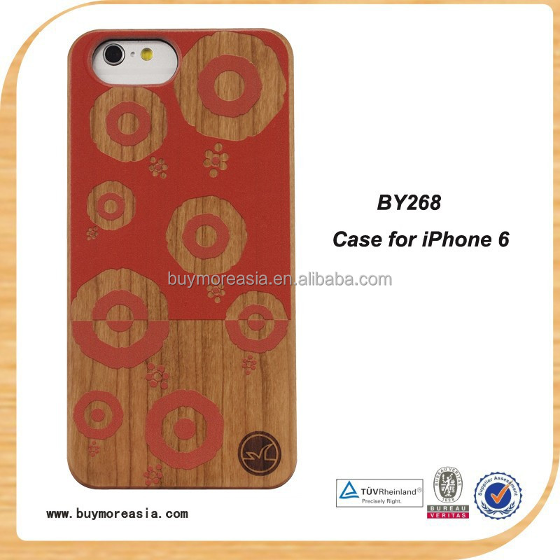 Customized for Wood iPhone 6 6S Case Paint Unique Pattern OEM Laser LOGO for Apple iPhone 6s Cover