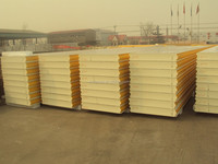 Fish storage cold room sandwich panel with polyurethane foam core