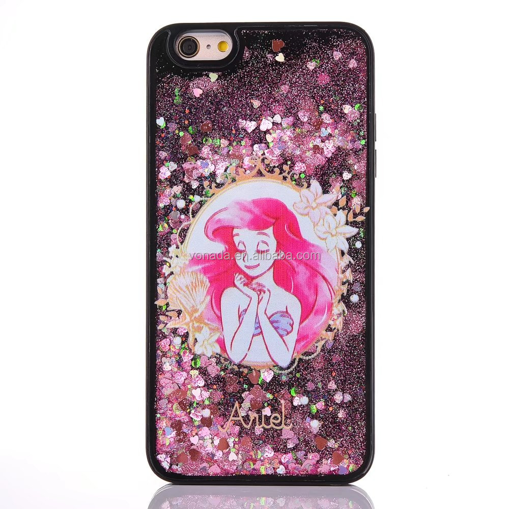 Girl Printing Shinning Dynamic Liquid Glitter Sand Star Case for iPhone 7 7 Plus