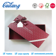 2017 China Suppliers Custom Bow Tie Chocolate/candy/Flower/Tea//wine/Shoes/cosmetics Gift Paper Packaging with lid
