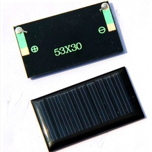 HUHESHUI 5V 30mA 53X30mm Micro Mini Small Power Solar Cell Solar Panel For DIY Toy 3.6V Battery Charger LED Light Epoxy
