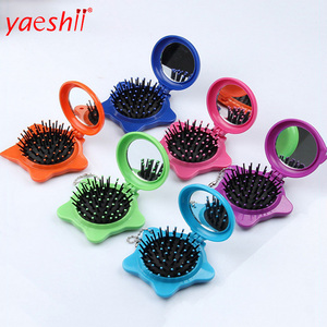 YAESHII Magical Foldable hair brush with mirror For Kids in 2016