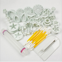 11 Sets (46pcs)fondant cake decorating tools / fondant making tools