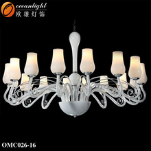 Designer lighting replicas contemporary led color changing chandelier glass chandelier OMC026-16W