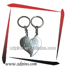 fashional broken heart shaped keychain