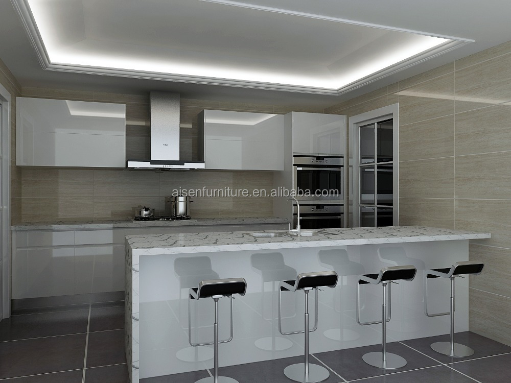 Top quality standard economic kitchen cabinet glossy for Quality kitchen cabinets