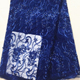 China wholesale beautiful embroidery beaded quality african navy lace fabric for bridal