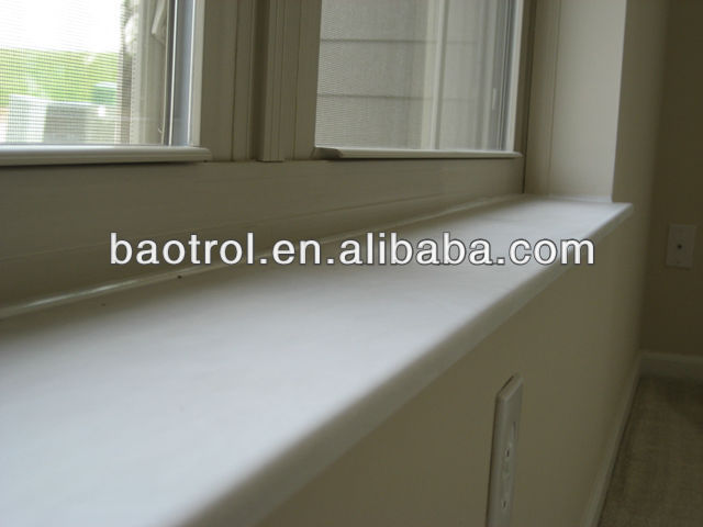 China Building Material Menufacturer Artificial Stones / Precast Window Sill / Artificial White Marble (BAW-056)