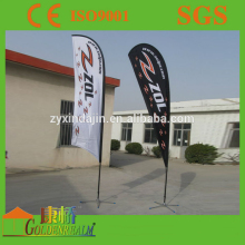 Cheap advertising flag with dye sublimation printing