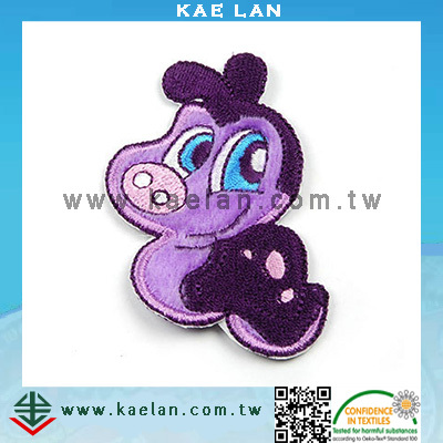 Insect work design applique and embroidery iron patch