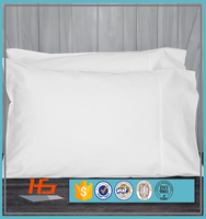 High Quality Pre Shrunk Cotton Pillow Cover 300 Thread Count White Color For Hotel and Home