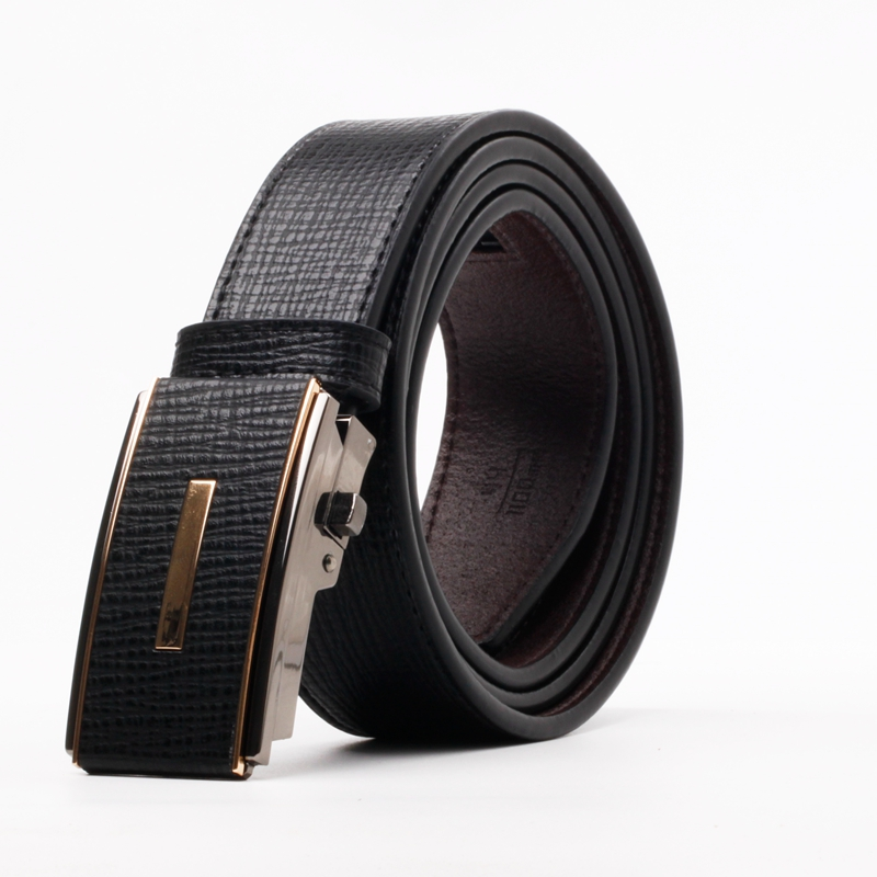 New products 2017 innovative western style genuine leather buckle belt