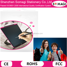 SOMAGI Fashionable 12 Inch Erasable LCD Writing Graphic Tablet -Electronic Drawing Board Lcd Ewriter for Kids and designers