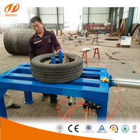 Scrap tyre fitting machine for sale tyre doubling unpacking tripling machine