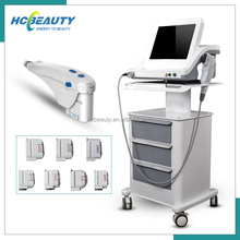 Popular 4 Mhz 7Mhz transducer face lift body fat shaping korea hifu with 7 heads
