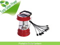 New Rechargeable led solar camping light lanterns with panel outdoor Radio portable lamp