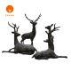 bronze statue figure sculpture Copper deer for garden decoration