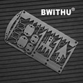 2016 BWITHU outdoor hiking multi functionnal card tool 18in1